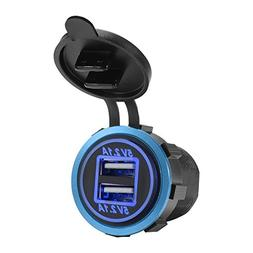 XCSOURCE 12-24V Car Dual Port USB Charger 4.2A Fast Charging