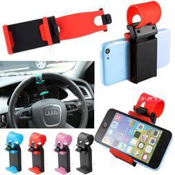 Car Steering Wheel Bike Clip Mount Holder Cradle Smart Cell