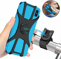Cell Phone Silicone Mount Holder GPS Motorcycle MTB Bike Bic