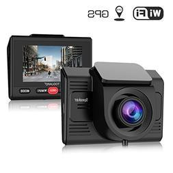 Dash Cam with GPS WiFi TOGUARD Full HD 1080P 2.45'' Car Da
