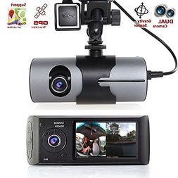 "Dual Lens Car DVR, 2.7"" TFT Full HD 1080P Front and Rear Car"