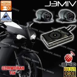 Dual MotorBike camera MotorCycle Dash Car GPS Waterproof Har