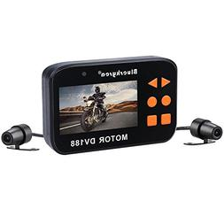 Blueskysea DV188 Motorcycle Recording Camera 1080p Dual Lens