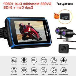 Blueskysea DV988 Dual Lens Motorcycle Wifi GPS Dash Cam Came