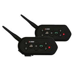 Toprui E6 BT Bluetooth Intercom 1200m Range 6 Drivers Full-D