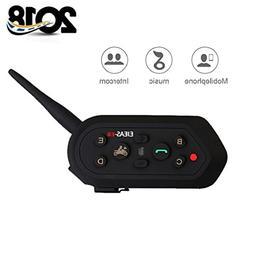 EJEAS-E6 BT Bluetooth Intercom 1300m 6 Riders Full Duplex Ta