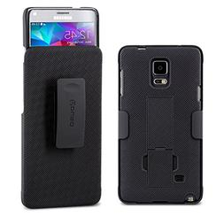 Galaxy Note 4 Case, Aduro COMBO Shell & Holster Case Super S