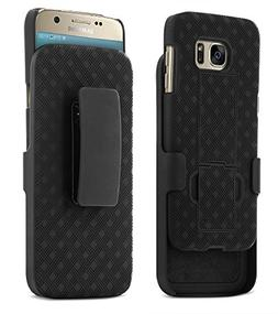 Galaxy S7 Case, Aduro Shell & Holster Combo Case Super Slim