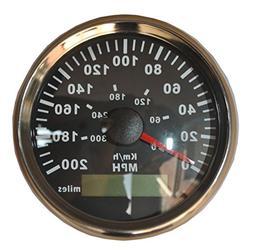 GPS KM/H MPH Miles Speedometer Gauge Odometer ATV UTV Motorc