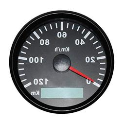 CT-CARID GPS Speedometer Gauge Waterproof 85mm 120km/h Speed