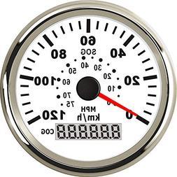 Samdo 0-75MPH Indicator 0-120Km/h 85mm Universal GPS Speedom