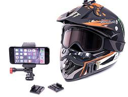 iPhone 6 Helmet & Dash Motorcycle Mount Clip For POV Action