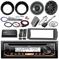 "JVC KDR99MBS Stereo CD Receiver Bundle + 2 Kicker 6.5"" Speak"