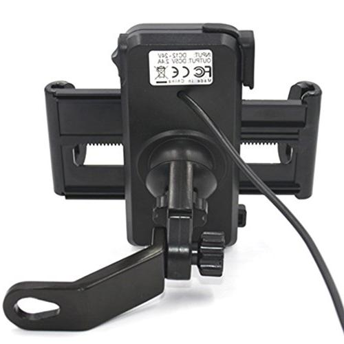 PROCYMD Waterproof Motorcycle Phone Holder with USB Charger/Power Power Cable/Safety Bands/Rearview Mount