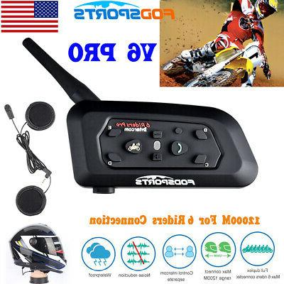 1200m motorcycle helmet bluetooth intercom headset v6