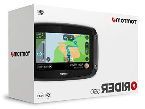 TomTom Rider Motorcycle GPS with Free Lifetime and Map Updates America, 5""