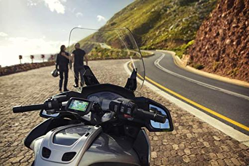 TomTom Rider Motorcycle GPS Navigation with Wi-Fi and Free Map of North America, - Black