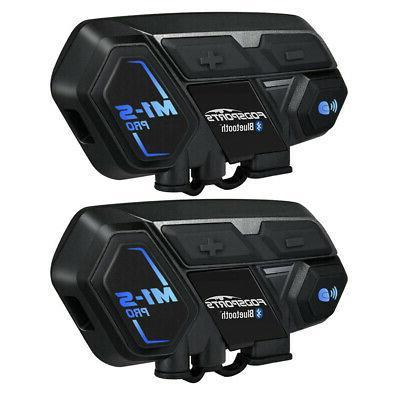 2Pcs Motorcycle Bluetooth
