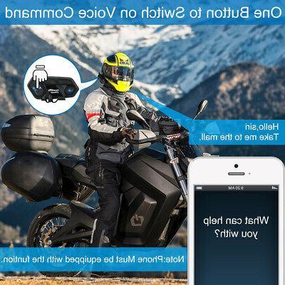 2Pcs Motorcycle Helmet Headset GPS
