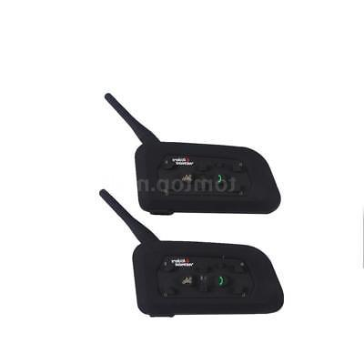 2pcs V6 Helmet Interphone GPS Headset 6Rider