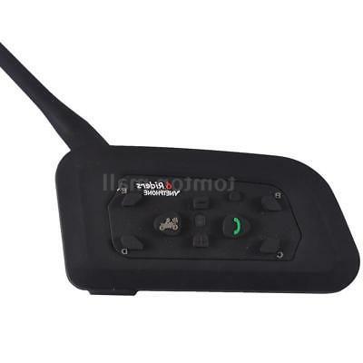 2pcs 1200M Motorcycle Helmet Bluetooth GPS 6Rider