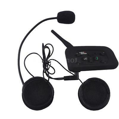 2pcs V6 1200M Helmet Intercom GPS Headset 6Rider