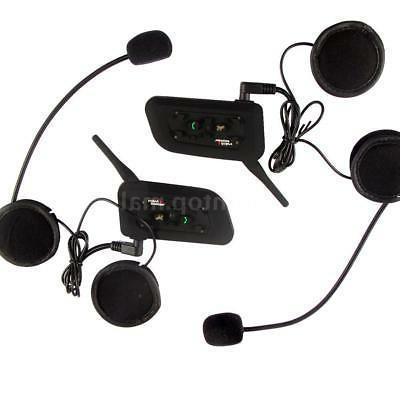 2pcs V6 Helmet Interphone Bluetooth GPS