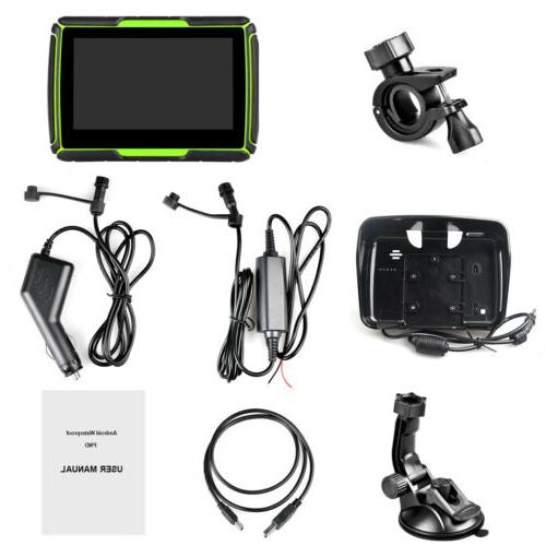 4.3 inch Motorcycle GPS Navigation WiFi Car Green