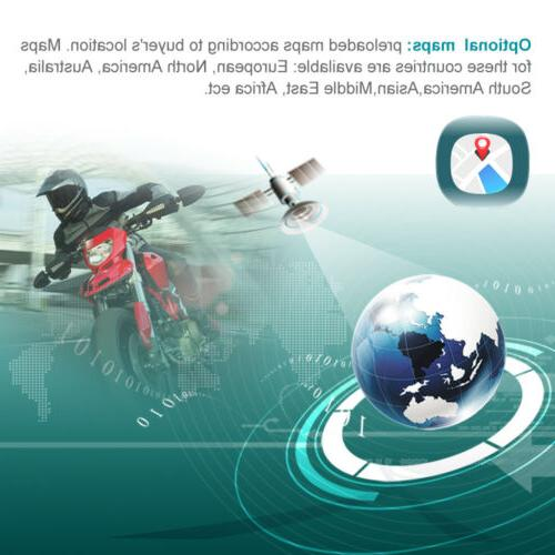 4.3 Bluetooth Motorcycle GPS WiFi Green