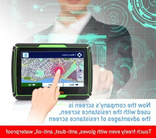 "4.3"" Bluetooth Motorcycle Car Navigation Free maps"