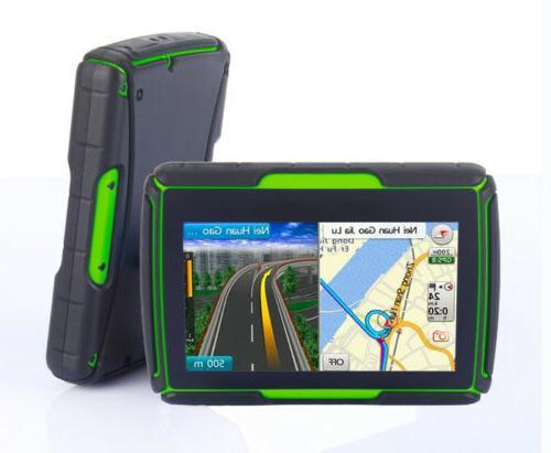 "4.3"" Bluetooth Waterproof Motorcycle Car Navigation 8GB Free NA maps"