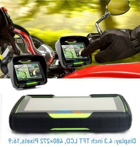 "4.3"" Motorcycle Sat Navigation 8GB"