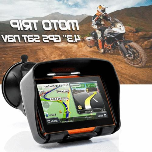 "4.3"" Motorcycle GPS Navigator Navigation Bike SAT NAV Blueto"