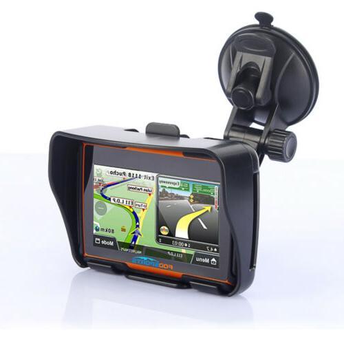 "4.3"" Bluetooth Waterproof GPS Car Navigation 8GB maps"