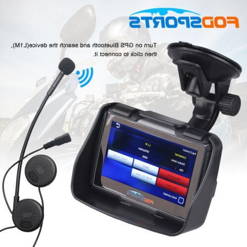 "4.3"" Car Motorcycle Navigation NAV IPX7+Wireless"