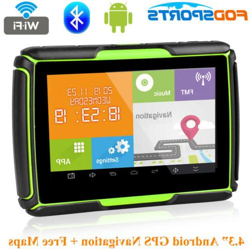 4 3 inch bluetooth motorcycle gps navigation
