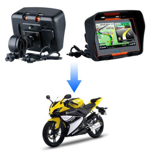 "4.3"" Motorcycle Touch Screen 8GB Waterproof Navigation"