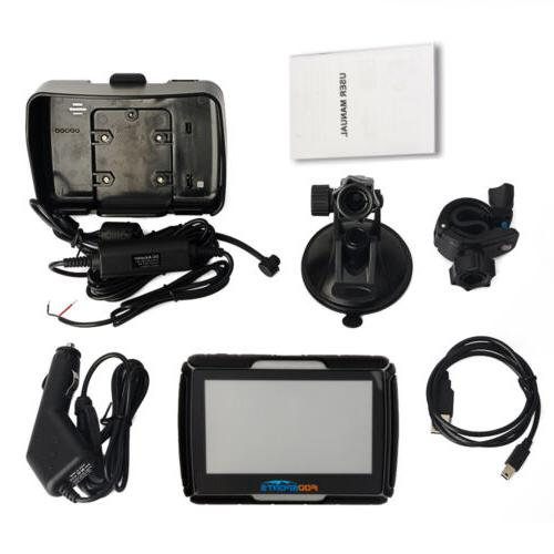 "4.3"" Car GPS Motorcycle Touch Waterproof Navigation"