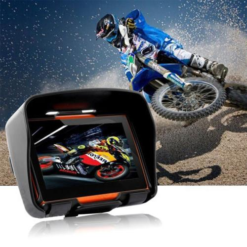 "4.3"" IPX7 Waterproof Motorcycle GPS Navigation 8GB SAT Navi"