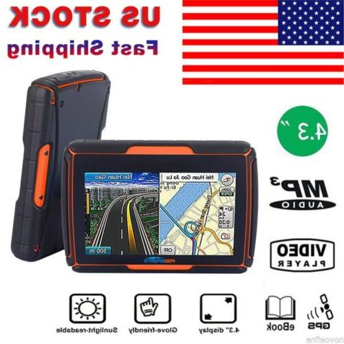 4 3 ipx7 waterproof motorcycle gps navigation