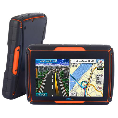 "4.3"" Waterproof Motorbike Bluetooth NAV + Maps"