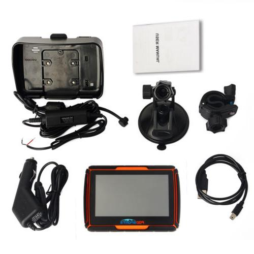 "4.3"" Motorcycle FM Waterproof IPX7 Navigator Maps"