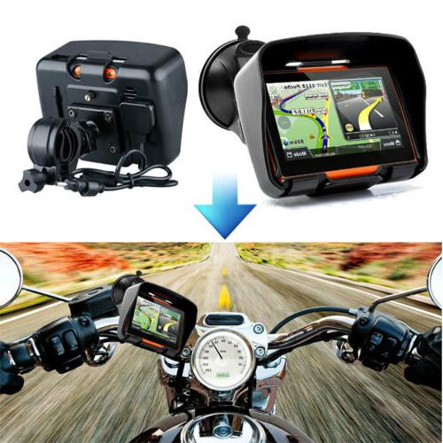 "4.3"" Motorcycle Car FM Waterproof Navigator Free Maps"