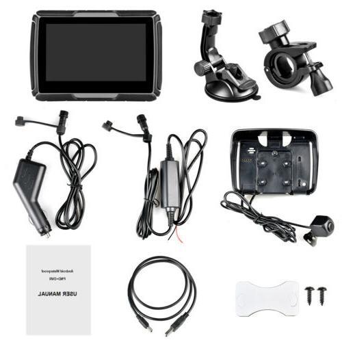 Waterproof GPS Screen Motorcycle +Camera DVR +Map