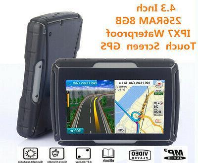 """4.3"""" Motorcycle GPS Waterproof Navigation SAT NAV Maps"""