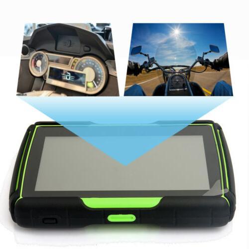 """4.3"""" Bluetooth Car GPS Waterproof Motorbike SAT NAV Maps"""