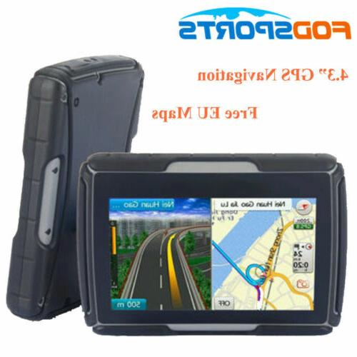 4 3 motorcycle gps touch screen bluetooth