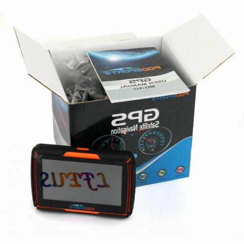 "4.3"" Screen Navigation Sat Nav Orange"