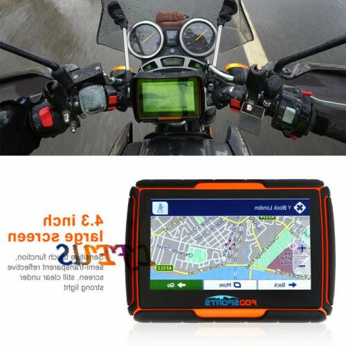 "4.3"" Motorcycle GPS Screen Sat Orange"