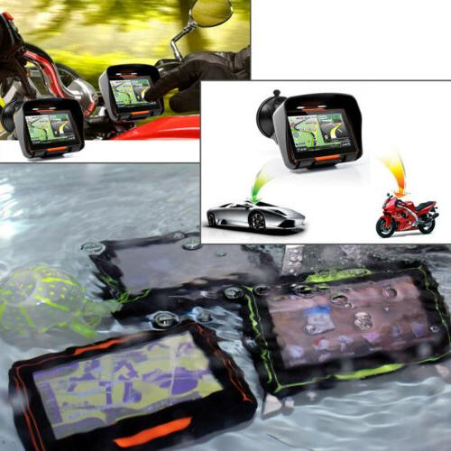 "4.3""Waterproof Touch Car Navigation 8GB 3D US"